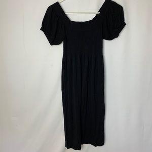 Black Dress with Peasant Sleeves